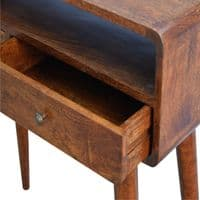 Scintilla Curved Console Table - Chestnut | Home Furniture